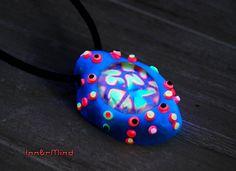 FREE Shipping  UV Blacklight Pendant Turquoise Deep Sea Solar