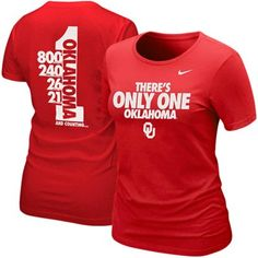 The 2012 There's Only One Oklahoma tee! #sooners ----I just got this short this weekend!