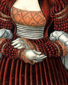 Lucas Cranach the Elder - detail of Portrait of a Woman.