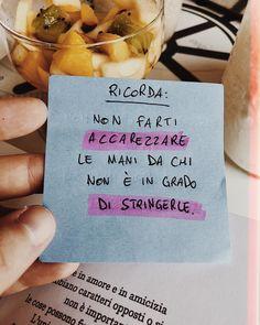 """Francesco Sole on Instagram: """"Ricorda: Non farti accarezzare le mani da chi non è in grado di stringerle. ————————————————— (Tagga nei commenti una persona che sa…"""" Motivational Phrases, Inspirational Quotes, Writing Characters, Instagram Story, Instagram Posts, Famous Last Words, Crazy People, What Is Love, Wallpaper Quotes"""