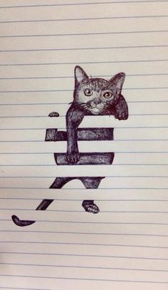 Tumblr artist kitten... Too cute