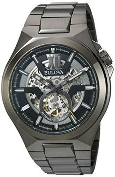 Price: (as of – Details) Bulova Men's Automatic Stainless Steel Casual Watch, Color: Grey (Model: Watch Sizing Guide Create a striking look with this compelling Bulova® w… Casual Watches, Cool Watches, Watches For Men, Men's Watches, Wrist Watches, Latest Watches, Stainless Steel Watch, Stainless Steel Bracelet, Bulova Mens Watches
