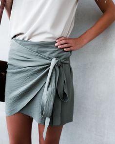 Voyage Wrap Skirt - Olive