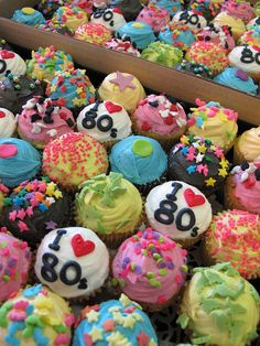 I would like to request these for NY birthday this year!!! I heart 80s cupcakes by Crumbs and Doilies, via Flickr