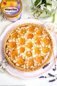 Apricot, Almond and Ricotta Frangipane Tart with Apricot Lavender Ice cream...