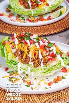 Lettuce Wedge, Head Of Lettuce, Wedge Salad Recipes, Taco Tuesday, Skinny Recipes, Cilantro, Ground Beef, Beef Recipes, Dinner Ideas