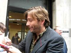 David Tennant signing at Radio 2 09 10 10