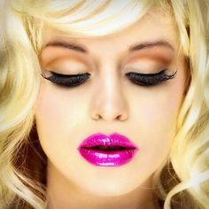 maquillaje labios fucsia buscar con google