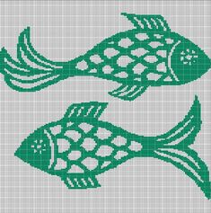 GREEN+FISHES+CROCHET+AFGHAN+PATTERN+GRAPH