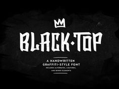 Free download BlackTop – an awesome Handwritten Graffiti Font designed by SixAbove Studios. It's very rugged and legible, surely it will bring bold characteristics of street art to build some breakdown into your design beats. Check it out and aply to your next projects.