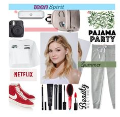 """Teen Spirit"" by lifeisworthlivingagain ❤ liked on Polyvore featuring Chiara Ferragni, NIKE, Neutrogena, Aéropostale, MAC Cosmetics, Gucci, Givenchy, NARS Cosmetics and shu uemura"