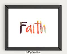 Faith Bible Art Scripture Prints Bible Verse by Bible Words, Bible Art, Printable Bible Verses, Have A Blessed Day, Printables, Faith, Prints, Handmade, Etsy