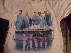 An actual shirt from my (Sam Winn's) first concert... the Backstreet Boys Millennium Tour.