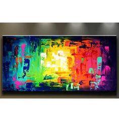 tableau toile peinture l 39 huile multi panneaux d co maison mura tableaux pinterest. Black Bedroom Furniture Sets. Home Design Ideas