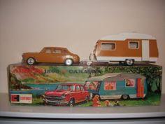Vintage Clifford toy Austin 1800 & Caravan boxed 1970s