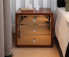 Criado Mudo Portofino com espelho bronze - Quartos Etc.