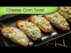 Learn how to make Cheese Corn Toast that can make extremely delicious starter / party appetizer. Cheese Corn Toast is a dish that can be served anytime of … Canapes Recipes, Appetizer Recipes, Snack Recipes, Cooking Recipes, Kids Party Snacks, Healthy Snacks For Kids, Healthy Cooking, Vegetarian Appetizers, Finger Food Appetizers