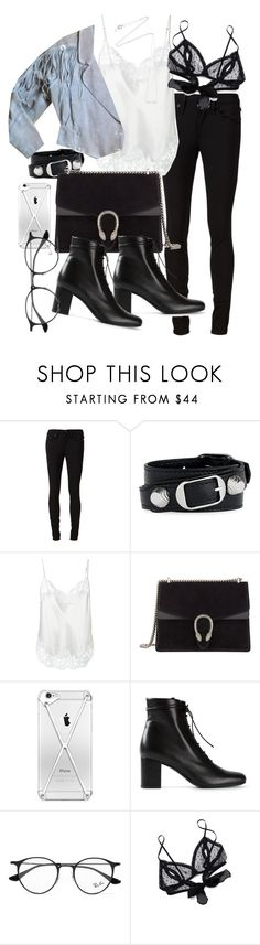 """""""Untitled #21299"""" by florencia95 ❤ liked on Polyvore featuring rag & bone/JEAN, Balenciaga, Givenchy, Gucci, Yves Saint Laurent, Ray-Ban, Only Hearts and Estella Bartlett"""
