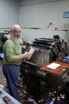 Ademir Matias, master typographer Belo Horizonte, Brazil