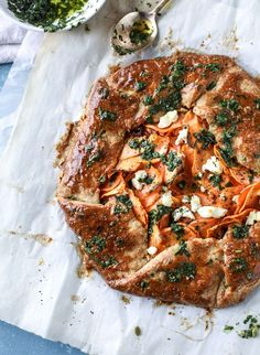 sweet potato galette with caramelized shallots I http://howsweeteats.com