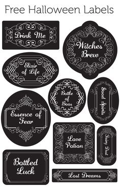 free halloween labels for jars glasses anything you want halloweenprintable