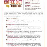 Javita Coffee Diet Challenge Contest Flyer