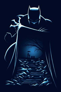 Batman and Thomas/Martha's graves