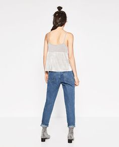 Imagem 5 de TOP COMBINADO BRILHO da Zara