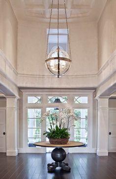 Entryway Foyer with dark har Foyer. Entryway Foyer with dark har House Design, Foyer Design, Interior, Home, Entry Foyer, Entryway Lighting, Foyer Decorating, House Interior, Entryway Chandelier