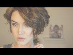Messy Beach Waves ♡ Short Hair Tutorial (+playlist) @macktack still glamorous youtube channel