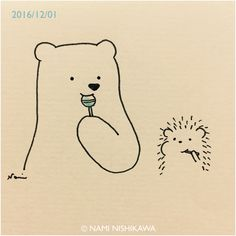Pinzellades al món: Il·lustracions de Nami Nishikawa: oda a l'amistat Hedgehog Art, Hedgehog Drawing, Cute Hedgehog, Hedgehog Illustration, Cute Illustration, Cute Little Drawings, Cute Drawings, Illustrations, Animal Drawings