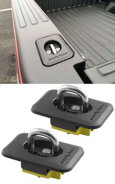 Retractable anchors snap up and down and install quickly into truck's stake pockets without drilling. Use these to secure equipment in the bed of your truck. Compatible with the GMC Sierra.