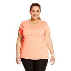 Women's  Plus Size Space Dye V-Neck Jersey T-Shirt - RBX