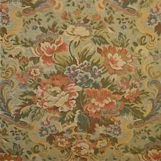 8.75 yards Opulent Pindler & Pindler Italian Floral Tapestry Upholstery/Drapery Fabric