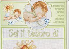 Copertina bambina che dorme schema punto croce (1)