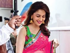 Madhuri wearing beautiful heavy jumkas