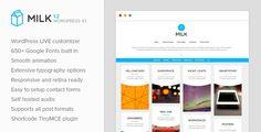Milk - Simple Masonry WordPress Portfolio #portfoliowordpress #portfoliotheme Live Preview and Download: http://themeforest.net/item/milk-simple-masonry-wordpress-portfolio/9904475?ref=ksioks