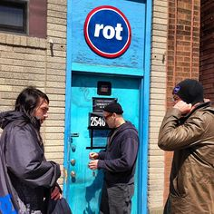 Outside the Rot Shop. Rot Studios, Chicago.