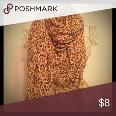 Leopard print scarf Are you a leopard print-lover? This scarf is such an easy way to spruce up your outfit! Cream undertone with brown & orange leopard spots. Brand new, excellent condition! Accessories Scarves & Wraps