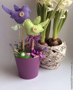 Foam Crafts, Diy And Crafts, Crafts For Teens, Happy Easter, Spring Time, Planter Pots, Outdoor Decor, Flowers, Handmade
