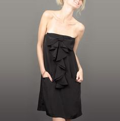 Black Ruffled Dress.