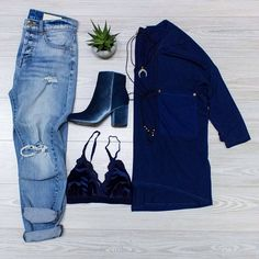 Baby Blue Can't get enough of this hue? There's plenty where it came from at http://ift.tt/2fU1BIi My Cheeky Boyfriend Denim $84. in-store only. Ice Blue Velvet Bootie $48. in-store only. For the Love of Velvet Bralette in Navy $32. in-store only. John Wayne Suede Choker Wrap NOW $22.80. in-store only. Raven Luxe Pocket Shirt in Navy $59.99 online  in-store.  #WearElysianDaily http://ift.tt/2kXcUyW Baby Blue Can't get enough of this hue? There's plenty where it came from at…