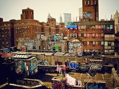 Urban Layer Cake - Chinatown Rooftop Graffiti - New York City by Vivienne Gucwa, via Flickr