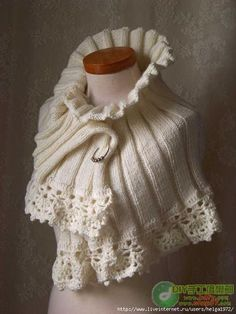 Upcycled Sweater Cape