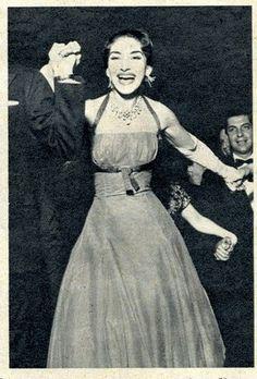 Maria Callas dancing at a party