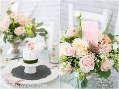 Blush pink & grey wedding inspiration styled by @b.loved shot by www.annelimarinovich.com flowers by @liz inigo jones cakes by @Ceridwen Olofson stationery by @Catharine { itty.bitty&bijou } { Catharine Noble Photography }