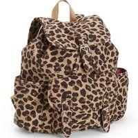 Leopard Print Backpack; Aeropostale