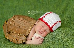 Newborn or 03 Month Baseball Beanie by BriarRoseCraftyThing, $20.00
