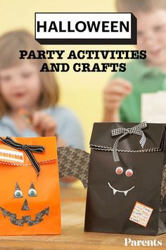 From activities little ones will love to do at your Halloween bash to spooky crafts you and your kids can make together, we have great projects that require few materials but guarantee lots of fun! Halloween Party Activities, Halloween Themes, Halloween Crafts, Happy Halloween, Diy Crafts For Kids, Party Ideas, Fall, Holiday, Projects
