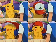 Pikachu looking cute and cool.